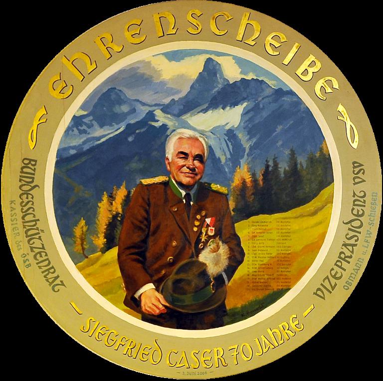 Ehrenscheibe Siegfried Caser
